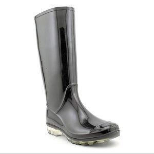 Coach Pixy Mesh Rain Boot in Black